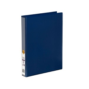CLEARVIEW INSERT BINDER A4 4 RING 25mm BLUE