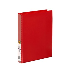 CLEARVIEW INSERT BINDER A4 4 RING 25mm RED