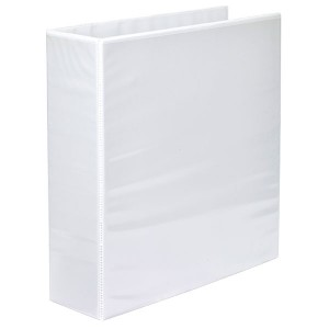 CLEARVIEW INSERT BINDER A4 2 RING 65mm WHITE