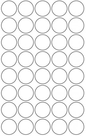 CIRCLE LABELS 32mm (R46) FLOURO GREEN Box 100 Sheets (price excludes gst)