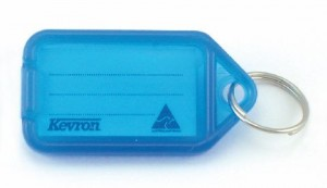 KEVRON KEY TAG STANDARD BLUE (BAG 50)  (price excludes gst)