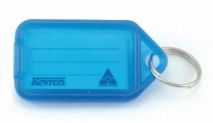 KEVRON KEY TAG STANDARD BLUE (BAG 50) ID5