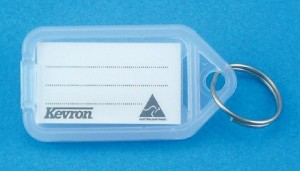 KEVRON KEY TAG STANDARD CLEAR (BAG 50)  (price excludes gst)