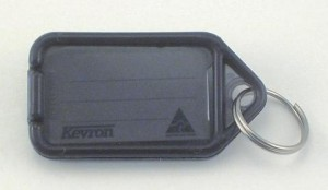 KEVRON KEY TAG STANDARD GRAPHITE (INDIVIDUAL)  (price excludes gst)