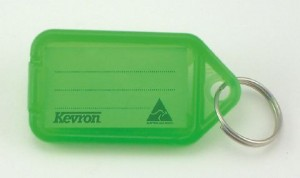 KEVRON KEY TAG STANDARD GREEN (BAG 50)  (price excludes gst)