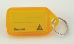 KEVRON KEY TAG STANDARD ORANGE (BAG 50)  (price excludes gst)
