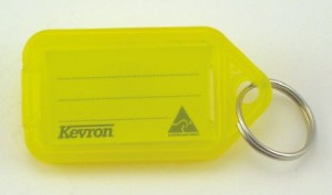 KEVRON KEY TAG STANDARD YELLOW (INDIVIDUAL)  (price excludes gst)