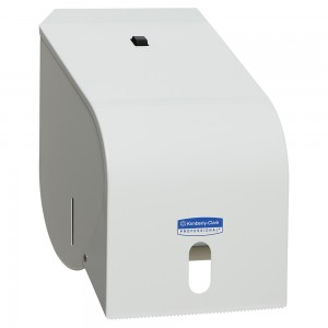 ROLL TOWEL DISPENSER WHITE ENAMEL