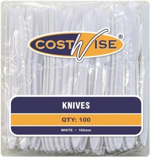 DISPOSABLE KNIVES PKT 100  (price excludes gst)