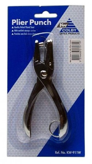 1 HOLE PLIER PUNCH COLBY #KW 911  (price excludes gst)
