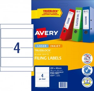 AVERY L7171 LEVER ARCH FILING LABELS (PKT 25)