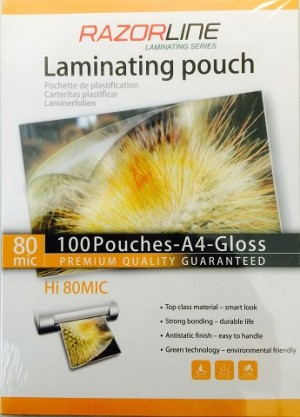 LAMINATING POUCHES A4 80 micron Box 100 (price excludes gst)