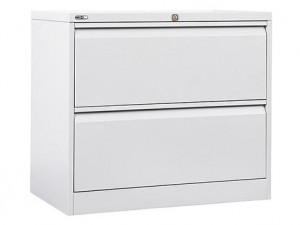 LATERAL FILING CABINET GO 2 DRAWER WHITE