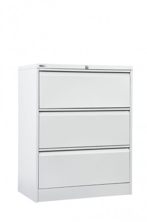 LATERAL FILING CABINET GO 3 DRAWER WHITE