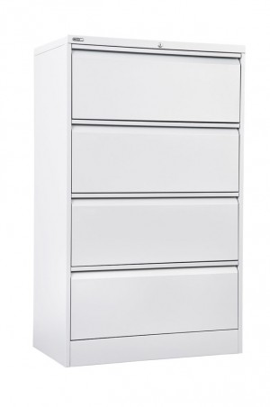 LATERAL FILING CABINET GO 4 DRAWER WHITE