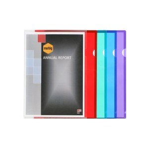 ULTRA LETTER FILES PVC A4 ASSORTED PKT 10