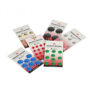 MAGNETIC BUTTONS 15mm GREEN (PKT 16)  (price excludes gst)
