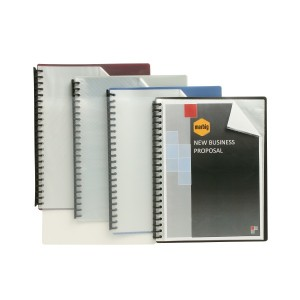 DISPLAY BOOK A4 REFILLABLE 20 POCKET CLEAR FRONT/GREY #2007211 (price excludes gst)