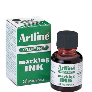 ARTLINE MARKER INK 20cc BLACK  (price excludes gst)