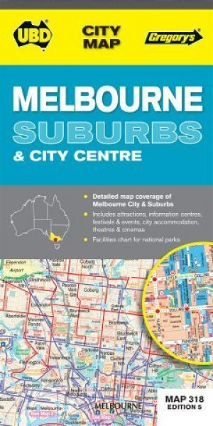 Map Gregorys Melbourne 318 8th Edition