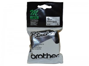 BROTHER M-TAPE MK-921 9mm BLACK ON SILVER