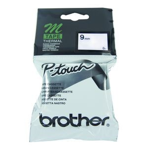 BROTHER M-TAPE MK-221 9mm BLACK ON WHITE