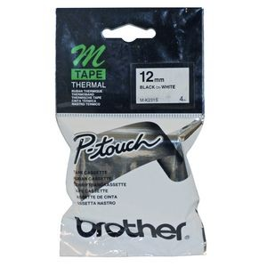 BROTHER M-TAPE MK-231 12mm BLACK ON WHITE