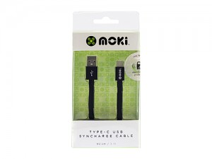 MOKI USB-TYPE C SynCharge PHONE CABLE 90cm BLACK