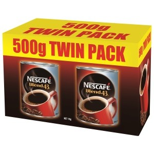NESCAFE BLEND 43 TWIN PACK INSTANT COFFEE (2 x 500g)