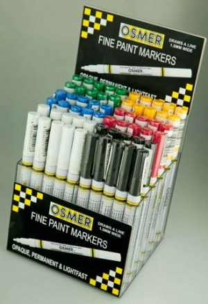 OSMER PAINT MARKER FINE NIB 1.5mm BLACK (BOX 12)  (price excludes gst)