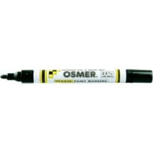 OSMER PAINT MARKER MEDIUM NIB 2.5mm BLACK