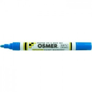 OSMER PAINT MARKER MEDIUM NIB 2.5mm BLUE (price excludes gst)