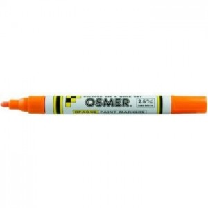 OSMER PAINT MARKER MEDIUM NIB 2.5mm ORANGE (price excludes gst)