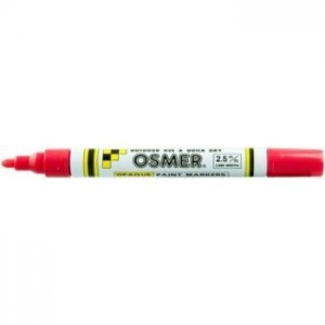 OSMER PAINT MARKER MEDIUM NIB 2.5mm RED (price excludes gst)