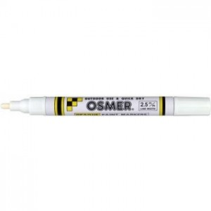 OSMER PAINT MARKER MEDIUM NIB 2.5mm WHITE  (price excludes gst)