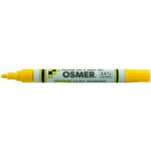 OSMER PAINT MARKER MEDIUM NIB 2.5mm YELLOW (price excludes gst)