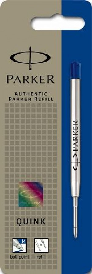 PARKER GENUINE BALLPOINT REFILL MEDIUM BLUE (prices excludes gst)