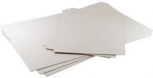 PASTE BOARD 4 SHEET WHITE   (price excludes gst)