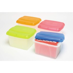 PORTA BOX CRYSTALFILE PINK/CLEAR LID #8008409  (price excludes GST)