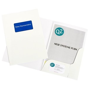 PRESENTATION FOLDER A4 WHITE GLOSS  BOX 50