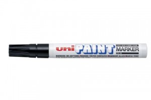 UNI PAINT MARKER PX-20 MEDIUM BULLET NIB BLACK  (price excludes gst)