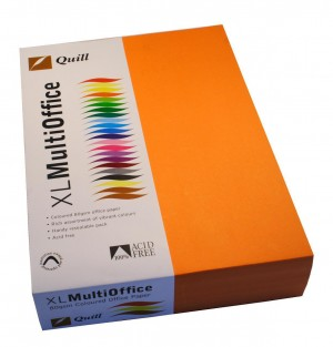 QUILL XL COPY PAPER A4 FLUORO ORANGE Ream 500 (price excludes gst)