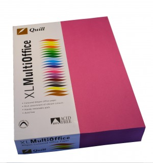 QUILL XL COPY PAPER A4 FLUORO PINK Ream 500 (price excludes gst)