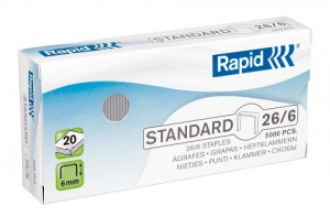 RAPID STAPLES 26/6 5,000  (price excludes gst)