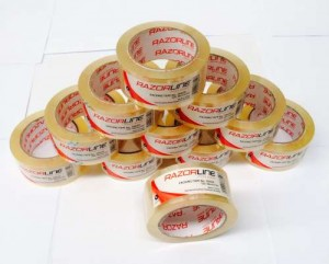PACKAGING TAPE 48mm x 75m CLEAR RAZOR Box 48 (price excludes gst)