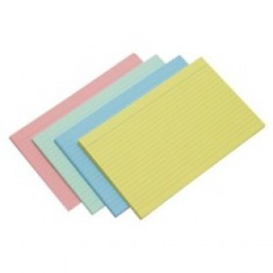 SYSTEM CARDS 150mm x 100mm TINTED BLUE (price excludes GST)