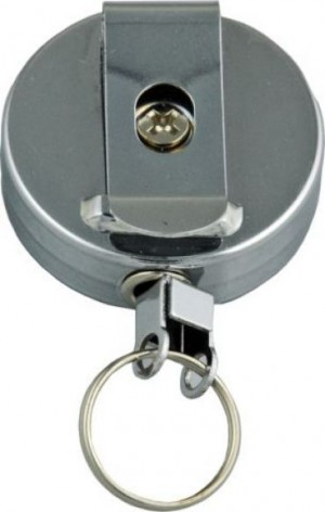 RETRACTABLE METAL REEL OSMER WITH KEY RING  (price excludes gst)