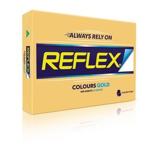 REFLEX COLOURED COPY PAPER A4 GOLD  (price excludes gst)