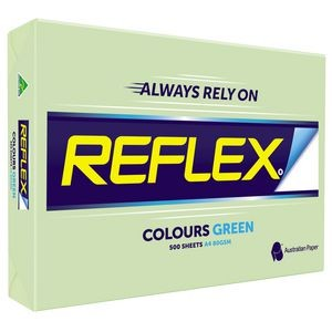 REFLEX COLOURED COPY PAPER A4 GREEN  (price excludes gst)