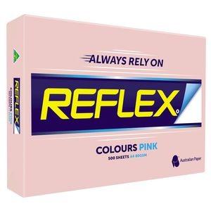 REFLEX COLOURED COPY PAPER A4 PINK  (price excludes gst)